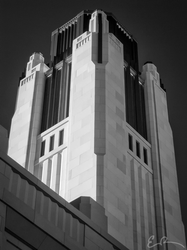 Smith Center Tower in Infrared