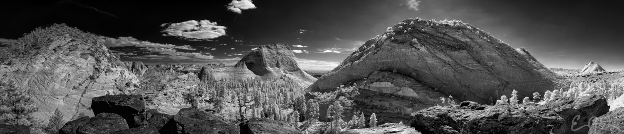 Zion's Northgate Peaks in Infrared