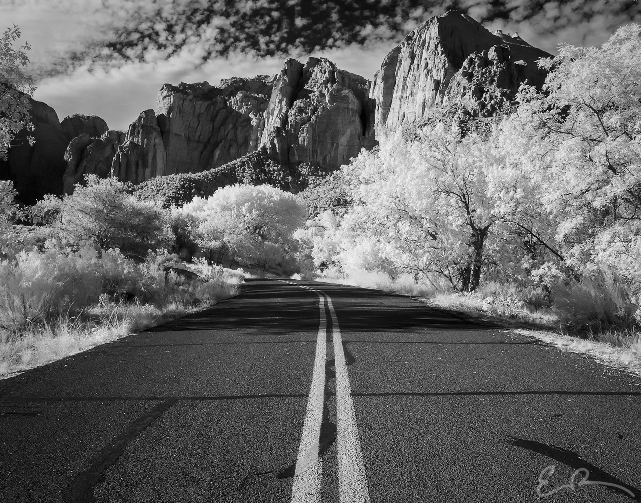 Service Road Only in Infrared II