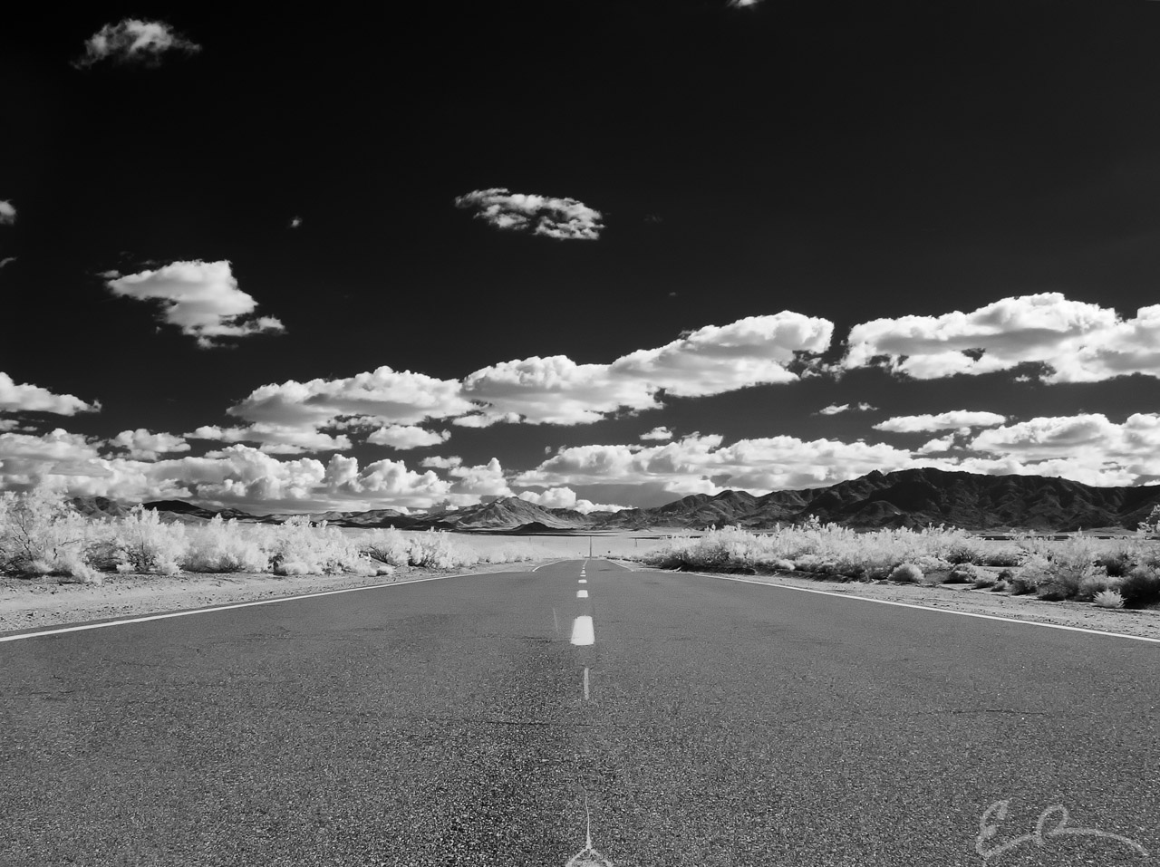 Along Ivanpah Road in Infrared