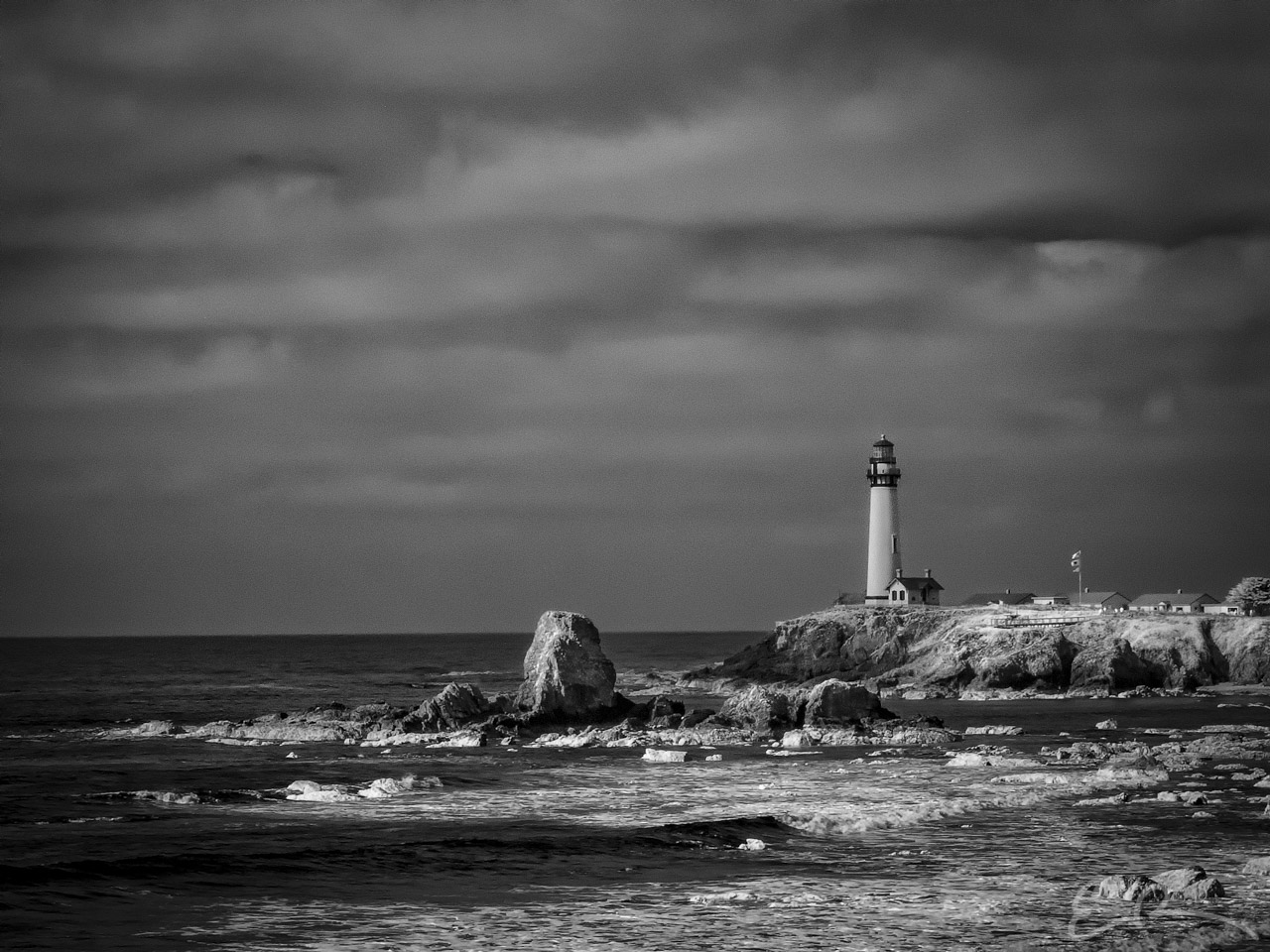 Pigeon Point Lighthouse in Infrared