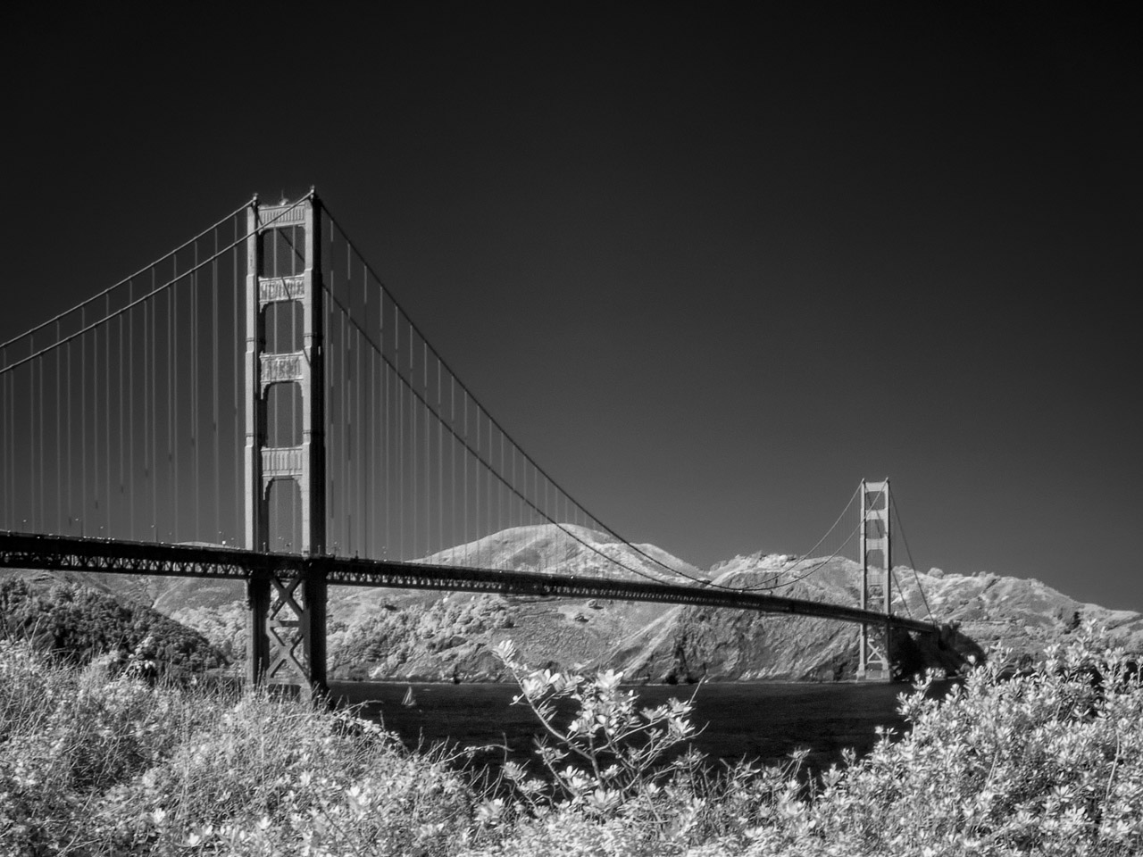 Golden Gate in Infrared