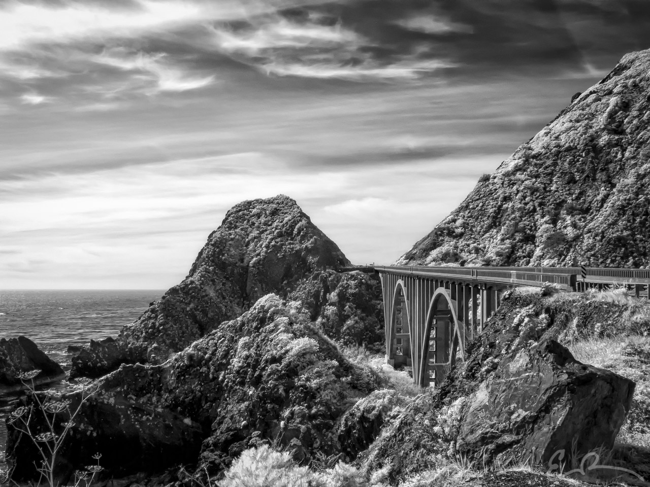 Big Creek Bridge in Infrared II