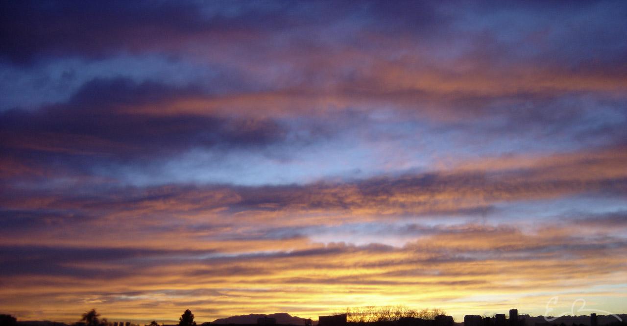 A January Sunset