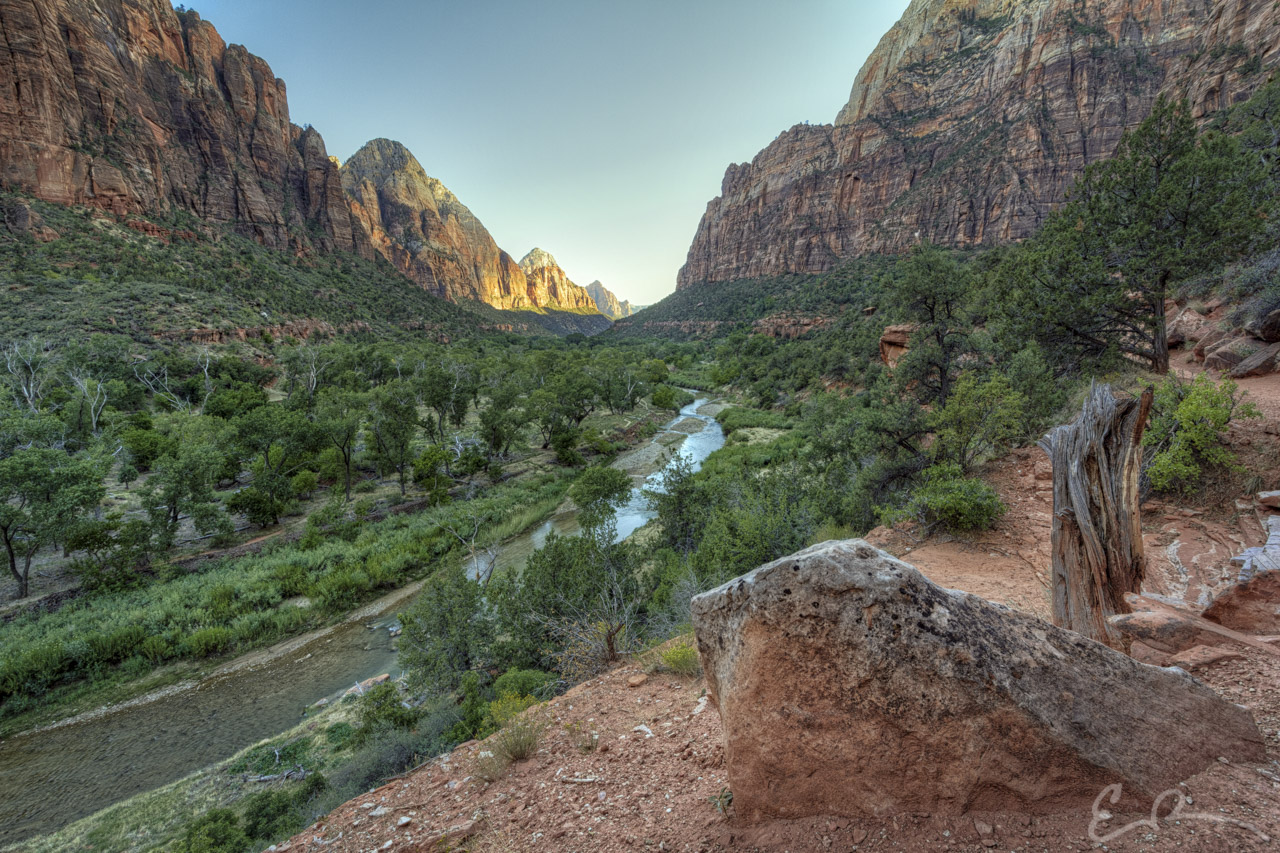 Sunset in Zion Canyon