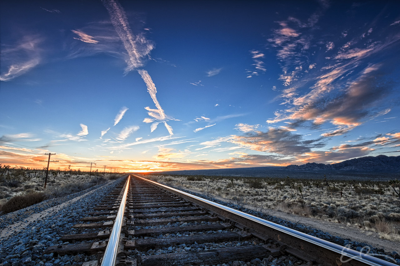 Mojave Tracks at Sunset II